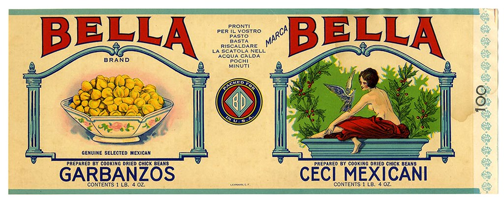 Ceci Mexicani label, Bella Brand, Lehmann Printing and Lithographing Co. | by California Historical Society Digital Collection