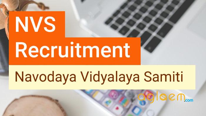 Navodaya Vidyalaya Samiti (NVS) Recruitment 2017 18