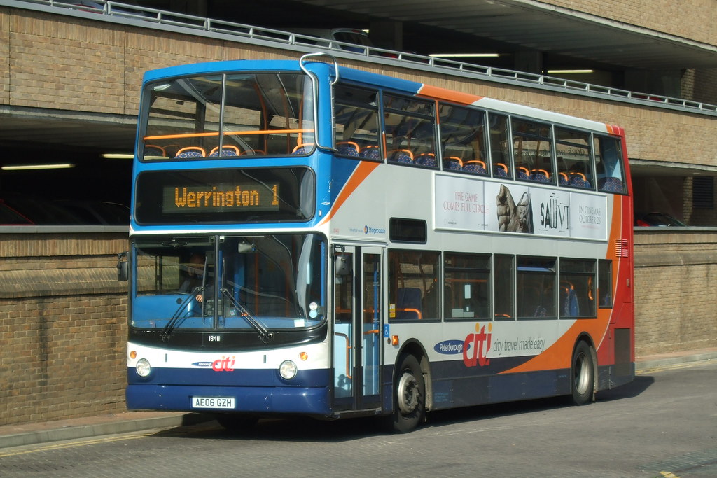 Stagecoach Peterborough 18411 Ae06gzh Dennis Trident