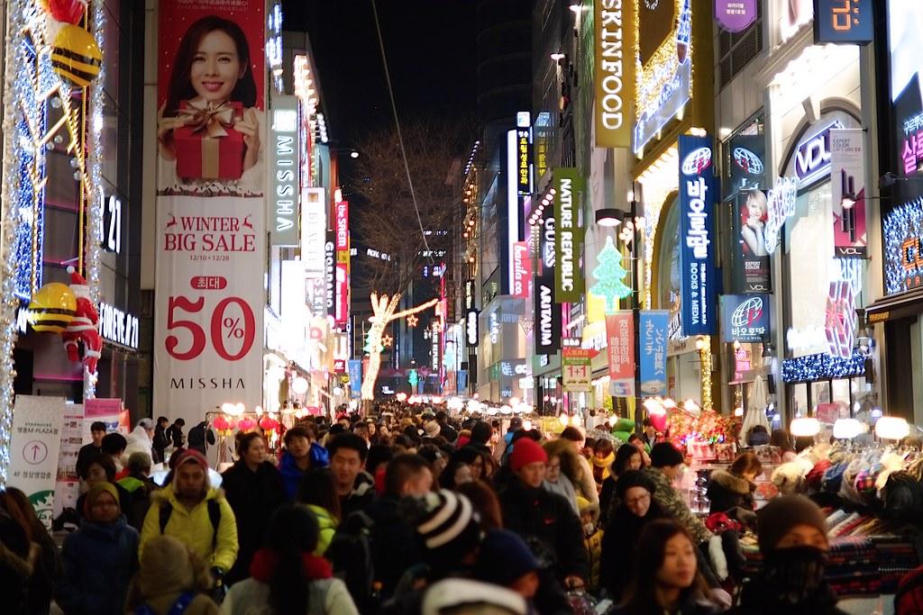 Myeongdong Shopping Crowds