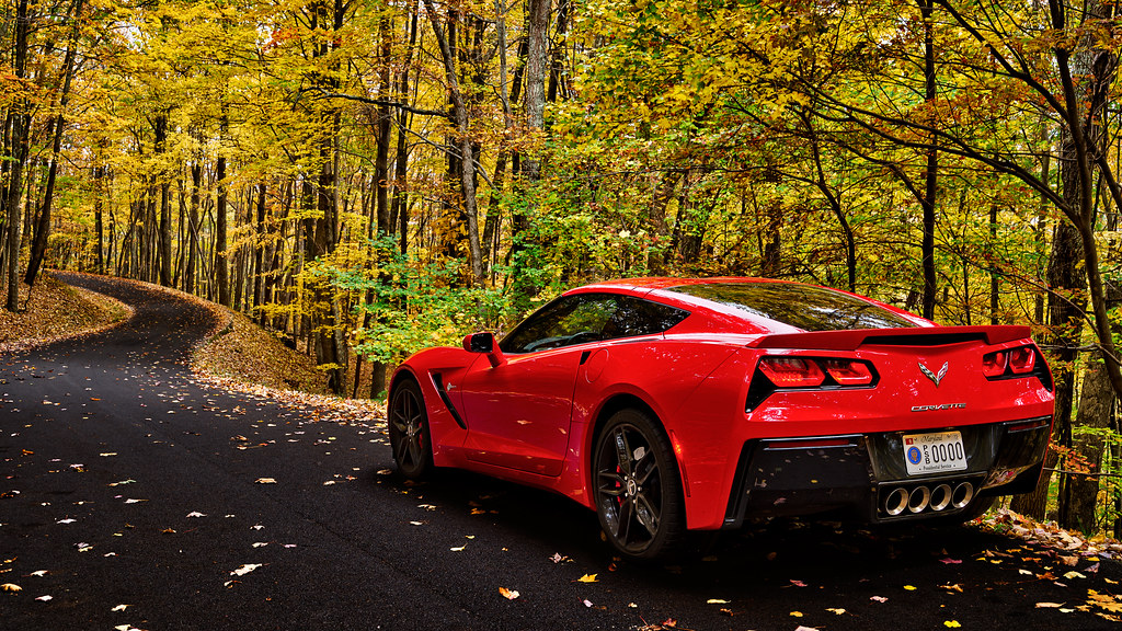 red corvette wallpaper