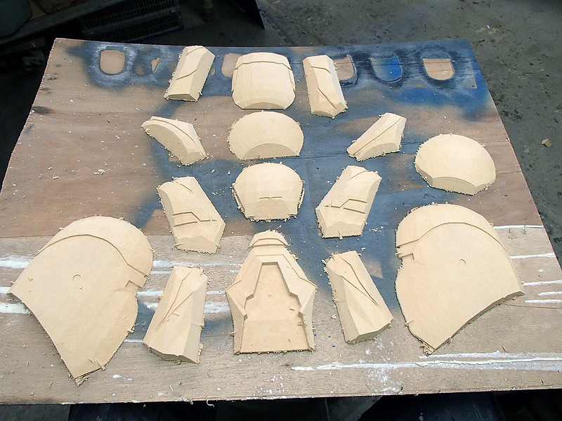 Shae Vizla Helmet Parts Laid Out for Cleanup