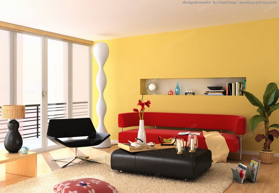 Yellow Wall Designs for Living Room | #LivingRoomColor - The… | Flickr