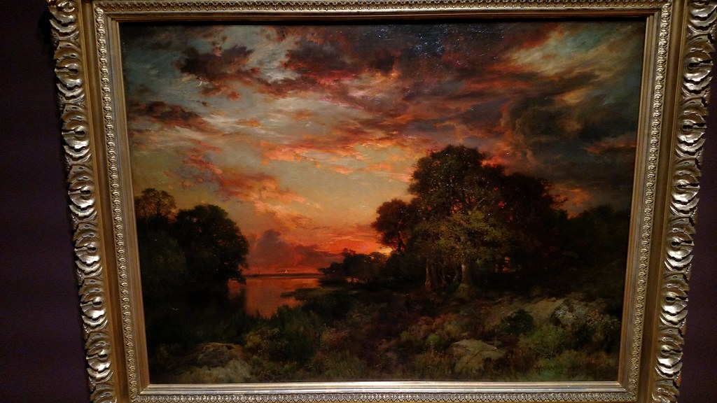 Thomas Moran - Three Mile Harbor, Long Island - 1889 FRAME… | Flickr