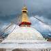 Stormy Boudhanath Stupa