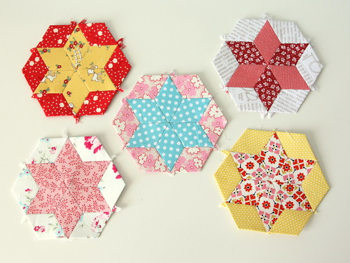 english-paper-piecing-diamond-stars | by amy smart