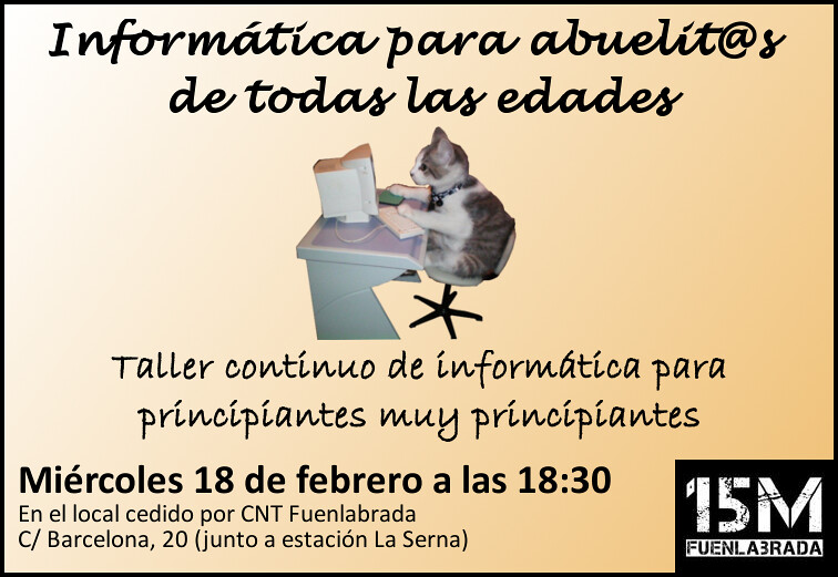 Informática para abuelitas… de todas las edades! Miércoles 18 a las 18:30