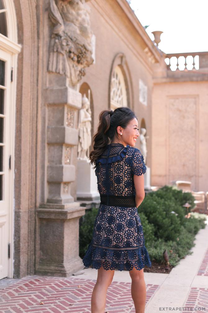 self portrait louisa guipierre dress for small short frame