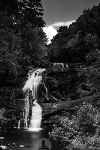 Bald River Falls Black & White | by Cooper Ricketts Photography