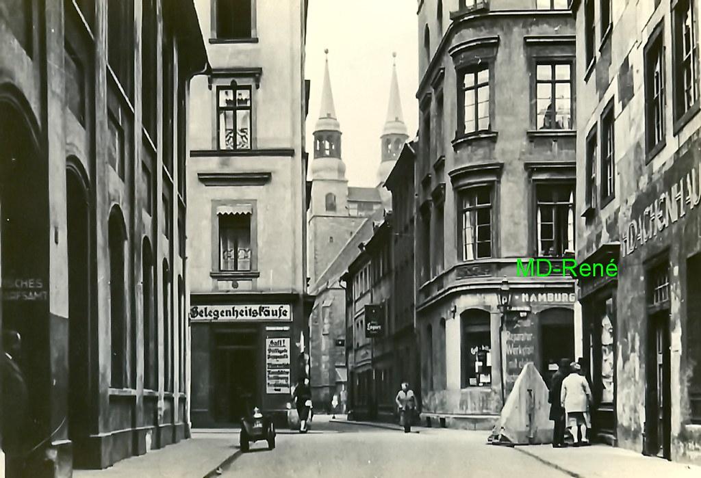 peterstra e und katharinenkirche magdeburg vor 1945. Black Bedroom Furniture Sets. Home Design Ideas