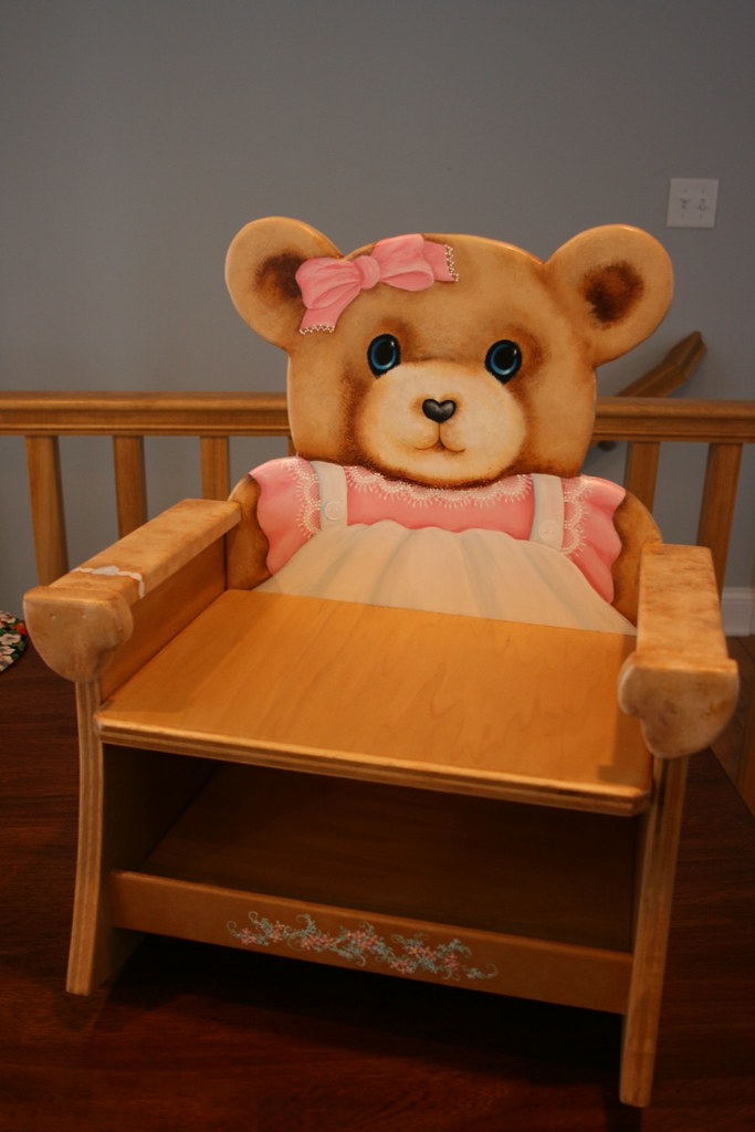 Teddy Bear Rocking Chair Hand Painted By Sherrylpaintz