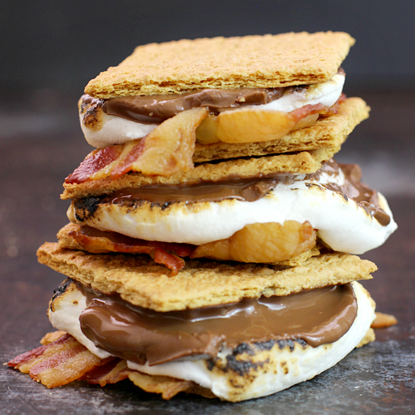 Bacon S'mores close up.