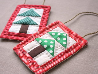 hand-quilted-christmas-ornaments | by amy smart