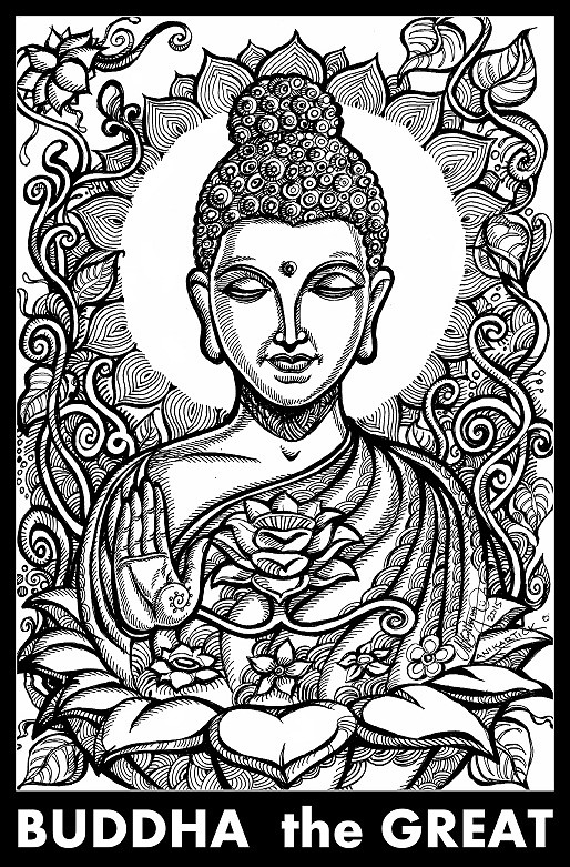 Buddha Drawing Art Illustration Pen Drawing Creati