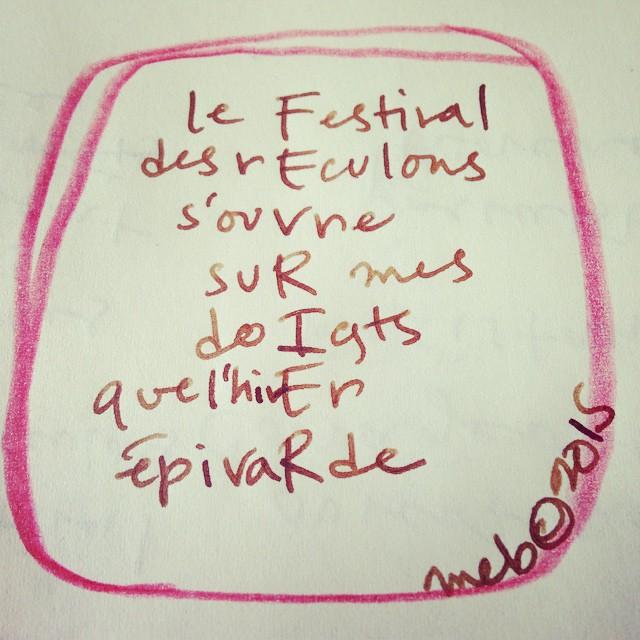 Février Poesie Poetry Mesostic Handwriting Marie Eve Bouchard