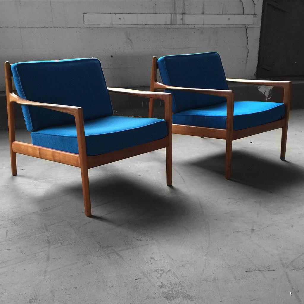 ... Capable Swedish Midcentury Modern Folke Ohlsson Teak Lounge Chairs For  Dux (Sweden, 1960s)