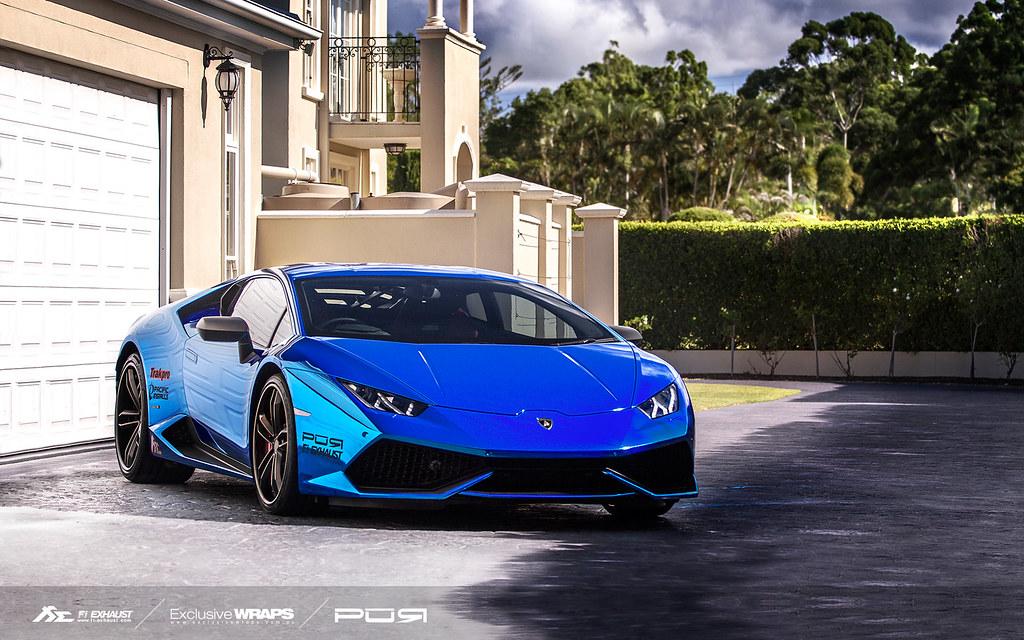 chrome blue lamborghini huracan lp610 with fi exhaust by fi exhaust - Lamborghini Huracan Blue