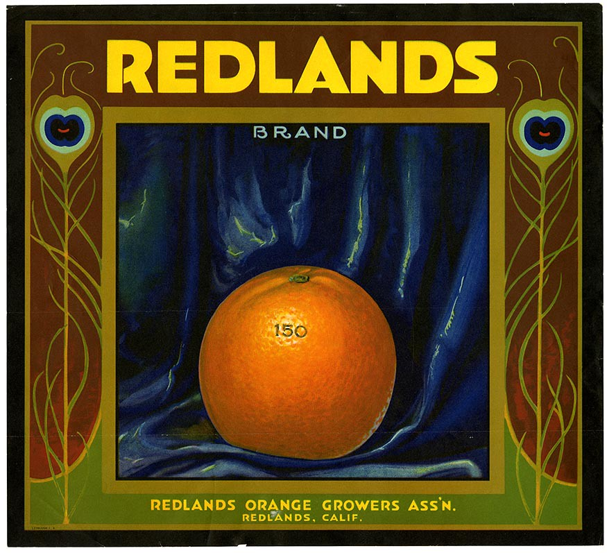 Orange crate label, Redlands Brand, Lehmann Printing and Lithographing Co . | by California Historical Society Digital Collection