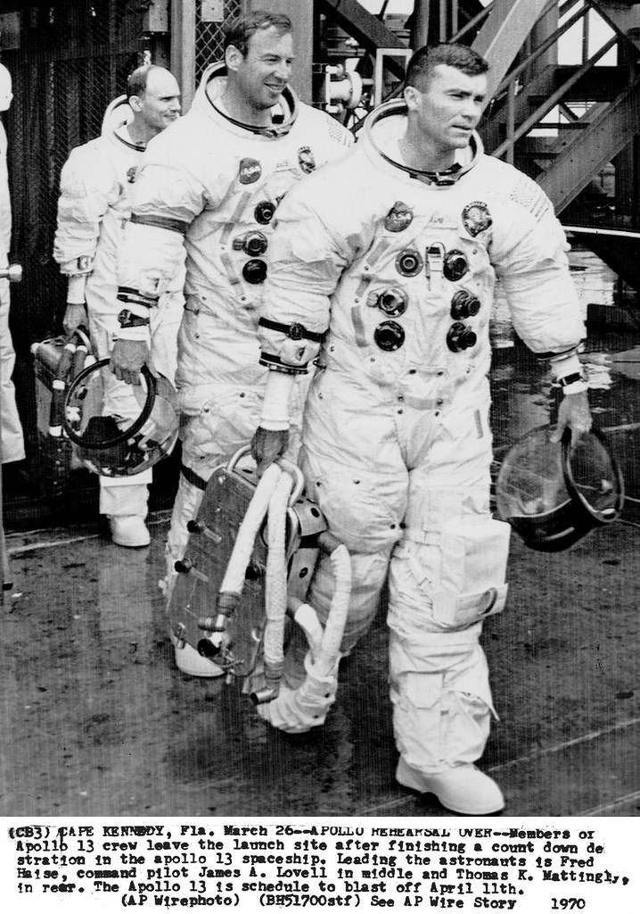 a13 0025 the apollo 13 prime crew leaving pad 39a after cd