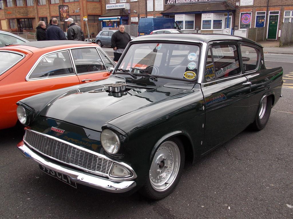 1961 Ford Anglia 105e Pro Street Custom Krispy Kreme Rod