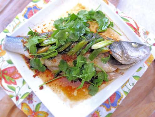 oriental steamed sea bass