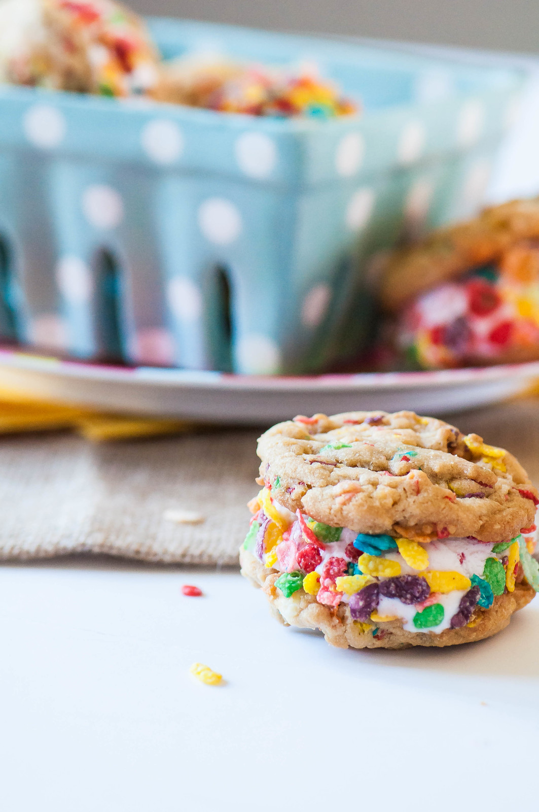 Fruity Pebbles Cookie Ice Cream Sandwiches 15
