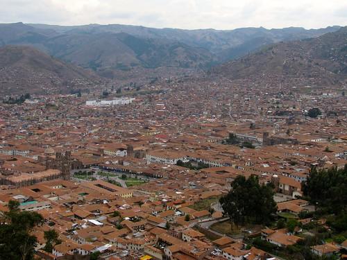 Vista de Cusco desde el Cristo Blanco