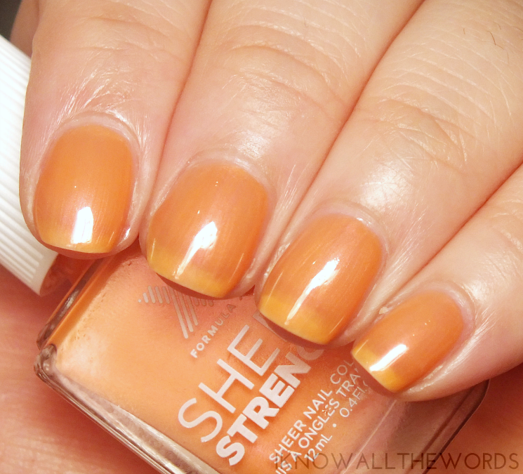 nothing but healthy nails with formula x sheer strength phenomenal