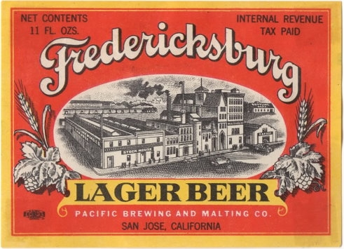 Fredericksburg-Lager-Beer-Labels-Pacific-Brewing-Company
