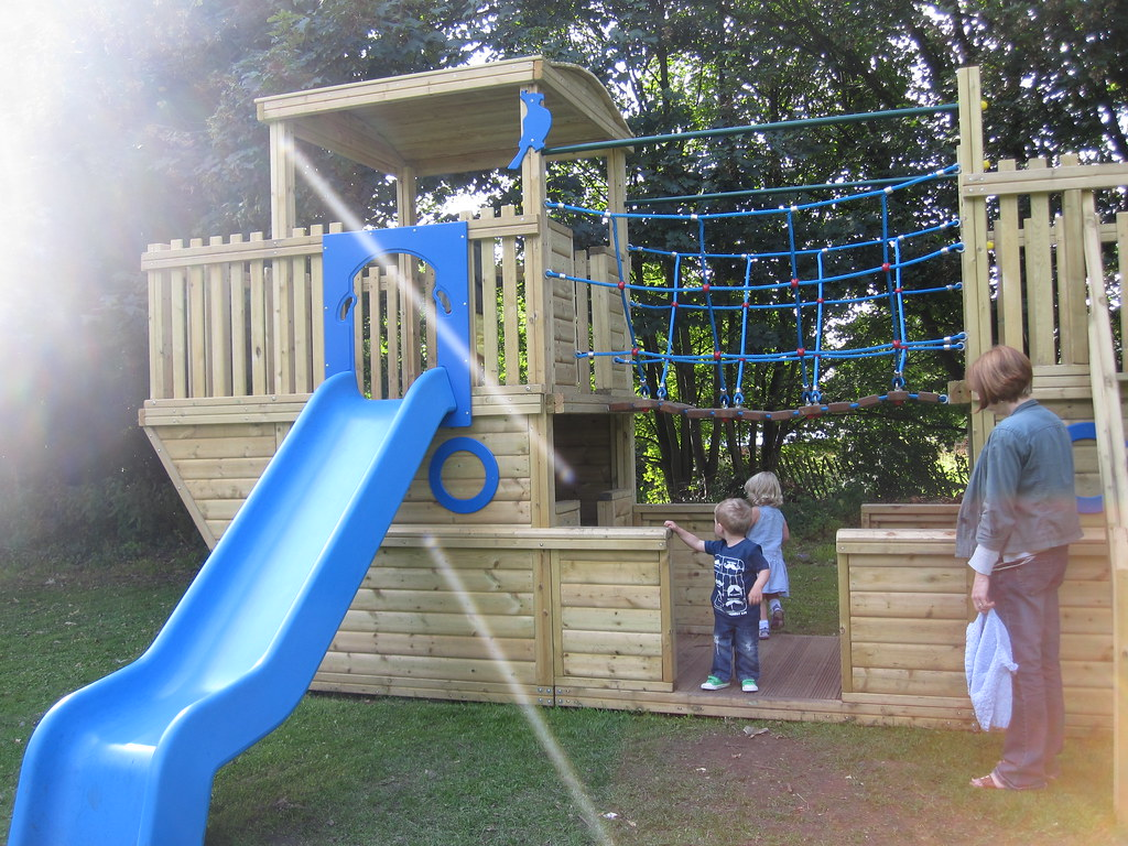 Wooden Boat Climbing Frame   We found this play boat in the …   Flickr