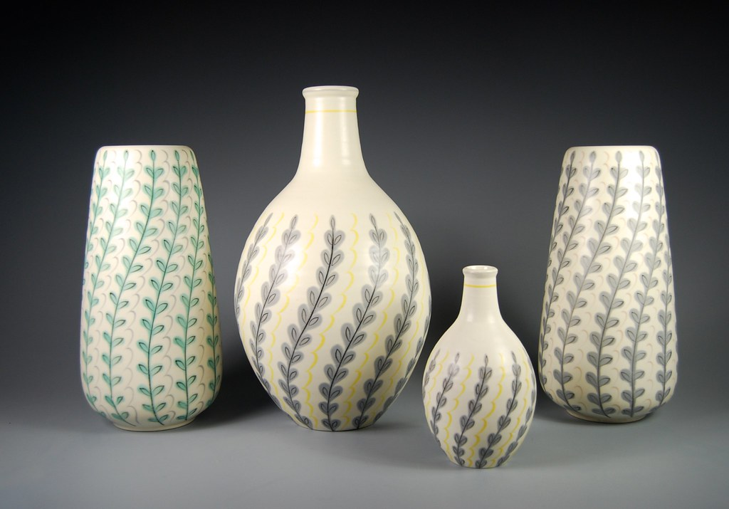 Poole Pottery 1950s Contemporary Vases 686yft 691yf Flickr