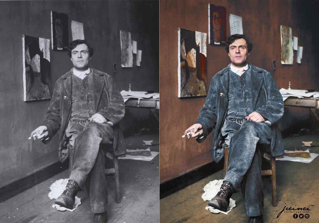 Amedeo Modigliani: Amedeo Clemente Modigliani At Le Bateau Lavoir 1915
