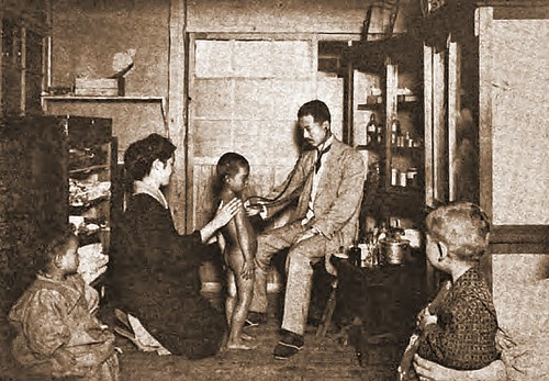 Japanese mandated physical exam of school age children - 1922