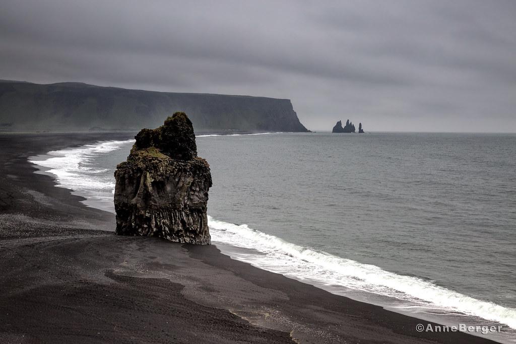 The Sentinel A Basalt Sea Stack On A Black Sand Beach