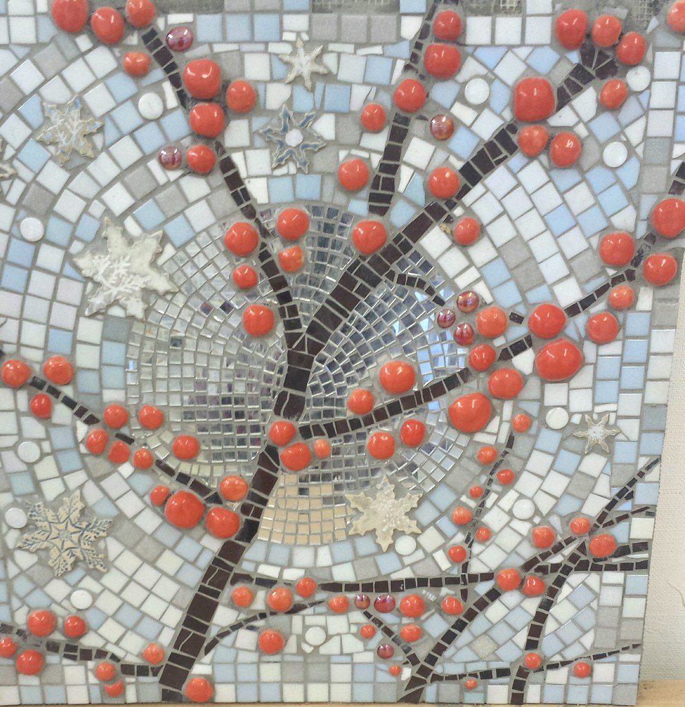 WINTERfrom the 4 seasons mosaic and ceramics panels