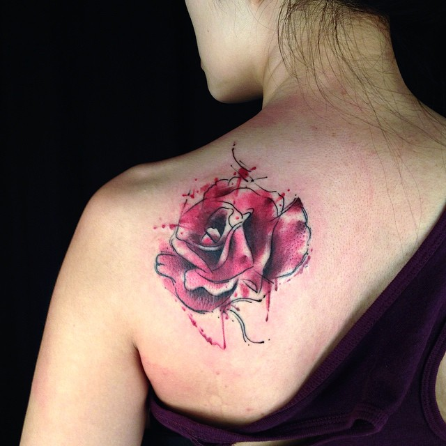 #tattoo #today #everyday #rose #watercolor #watercolortatt ...