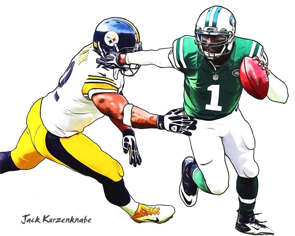 James Harrison Jets Steelers James Harrison