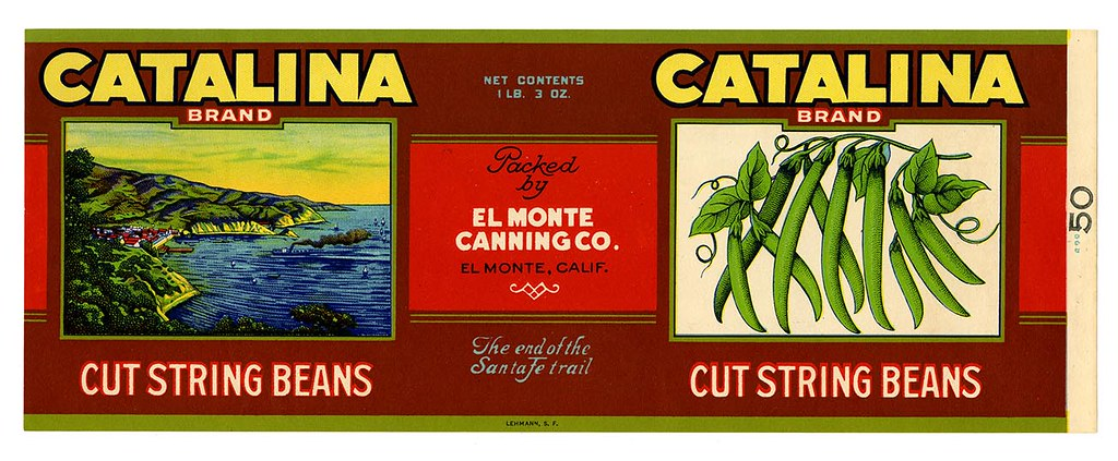 String beans label, Catalina Brand, Lehmann Printing and Lithographing Co. | by California Historical Society Digital Collection