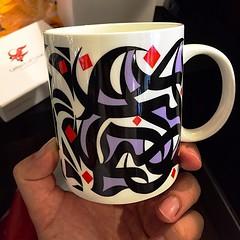 My awesome #arabic #calligraphy mug. Artwork by Wissam Shawkat #galleryone #jeddah