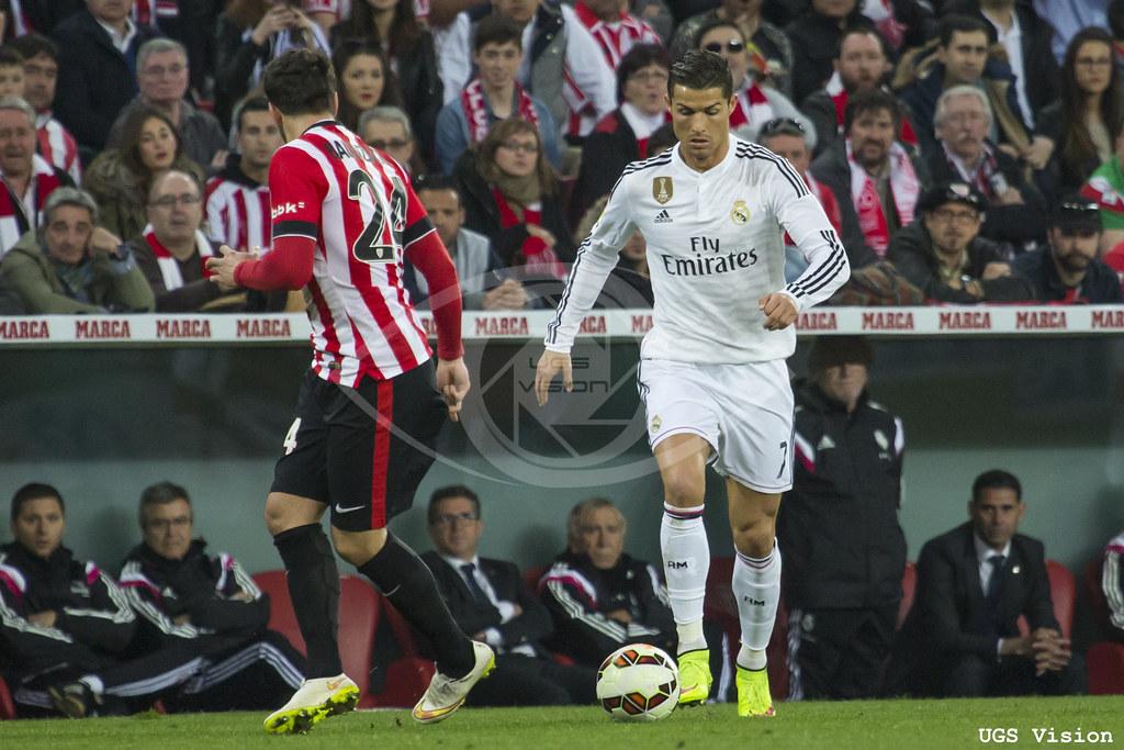 Cristiano Ronaldo en el partido ante el Athletic Club