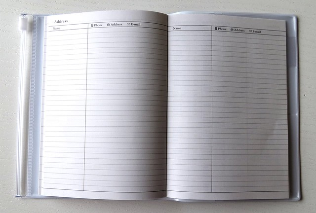 Make time planner address book