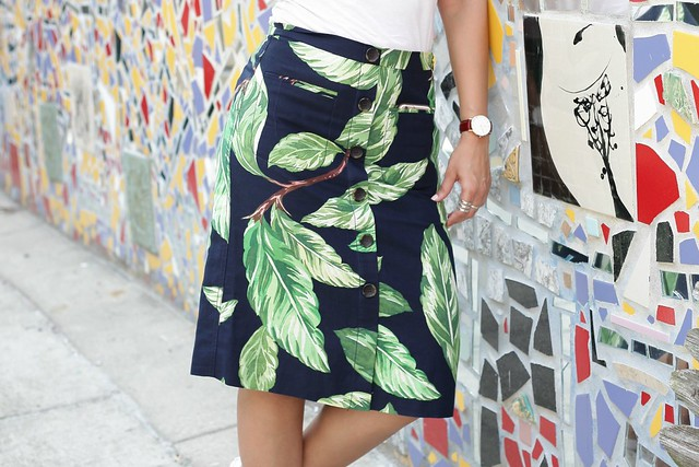Amalfi Button Skirt Tanvii.com 10