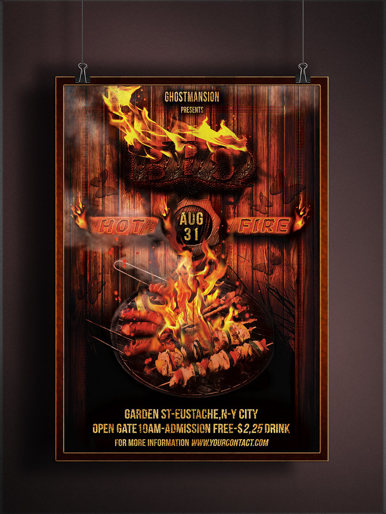 bbq party flyer template v2 flyer template modern event fl flickr