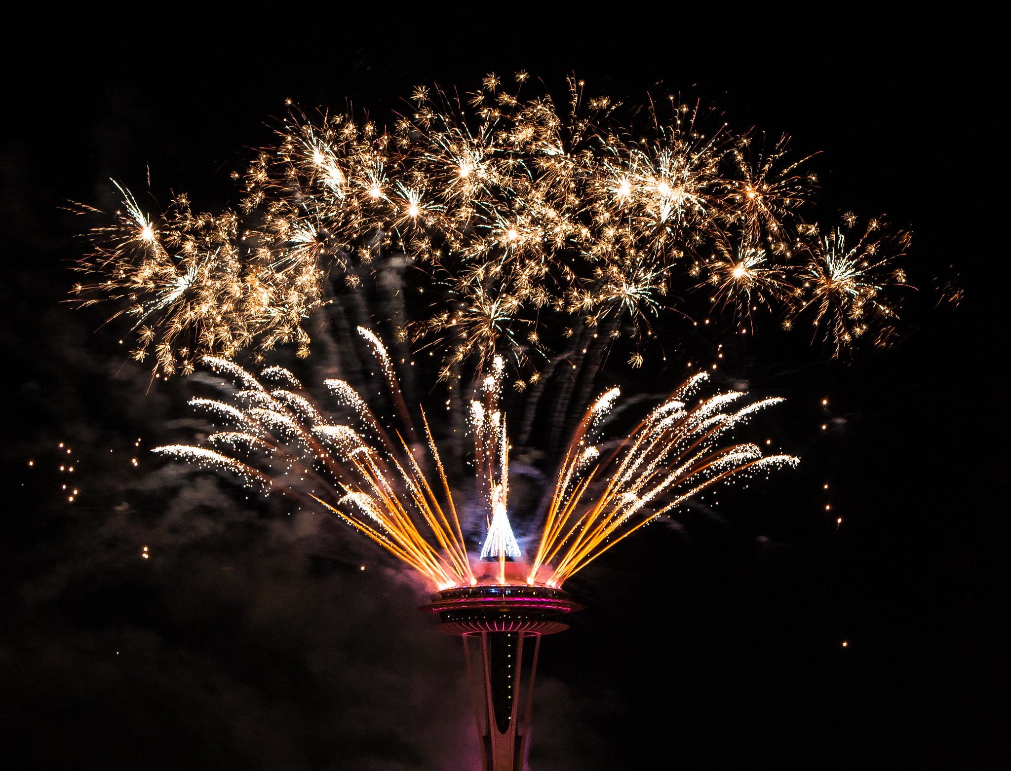 New Year's at the Space Needle in Seattle, WA.