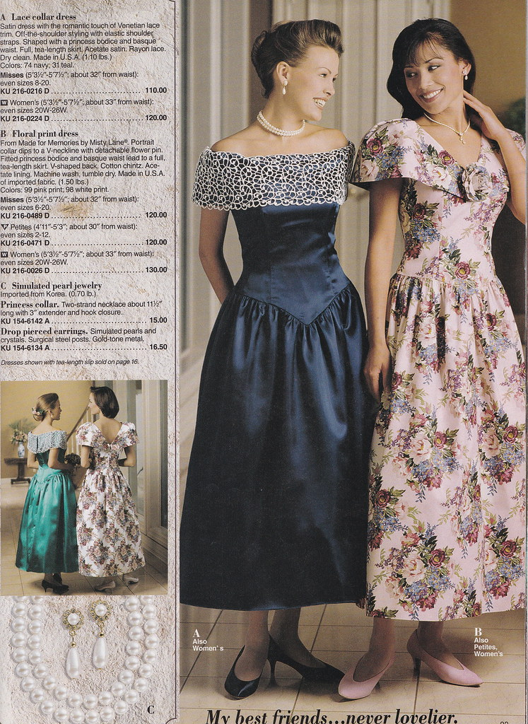 From a mid 90 39 s jc penney bridal catalog that dark blue for Wedding dresses catalog free