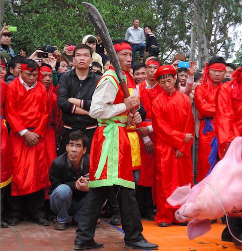 Executioner preparing for the ritual