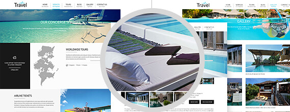 layout wordpress travel theme