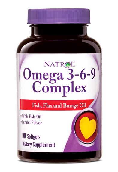 Natrol omega 3 6 9 complex with fish flax borage oil for Fish flax and borage oil