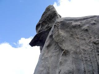 Sous le bloc et le bras sommital dans le tour du sommet de Capellucciu