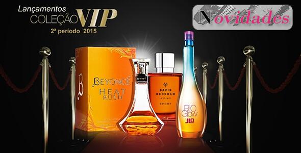 Lançamentos de novas fragrâncias da Coleção VIP